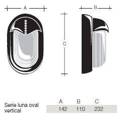 Medidas Serie Luna Oval Vertical BJC F-519-B