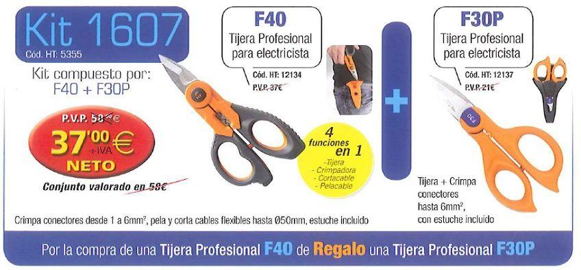 BANNER TIJERAS PROFESIONAL F-40 + TIJERAS PROFESIONAL F30P