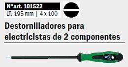 Destornilladores para electricistas de 2 componentes