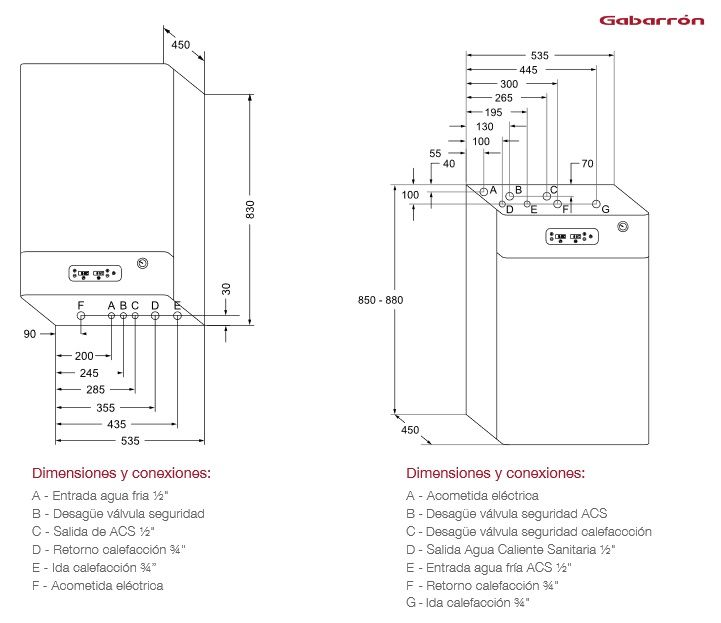 Caldera Digital  MATTIRA modulante calefacción y agua caliente sanitaria