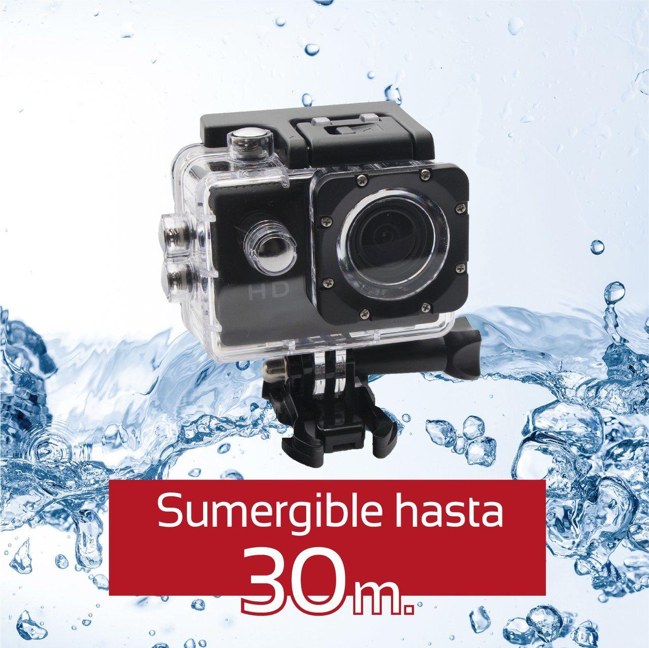 Camara de Accion Sk8 Cam 720P HD negra
