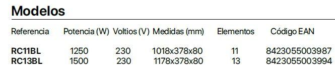 modelos-Radiador-Emisor-Térmico-Bajo-Ventana-38 cms-Haverland-RCBL