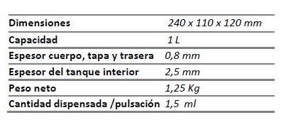 Dosificador de jabón líquido