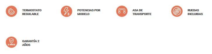 Caracteristicas Radiador Emisor Termofluido Con Ruedas HAT